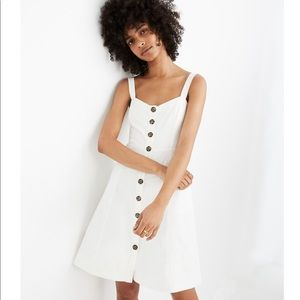 MADEWELL White button- front tank dress